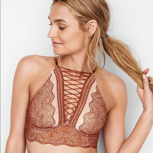 5545baac4a Victoria s Secret VERY SEXY Lace-up High-neck Bra